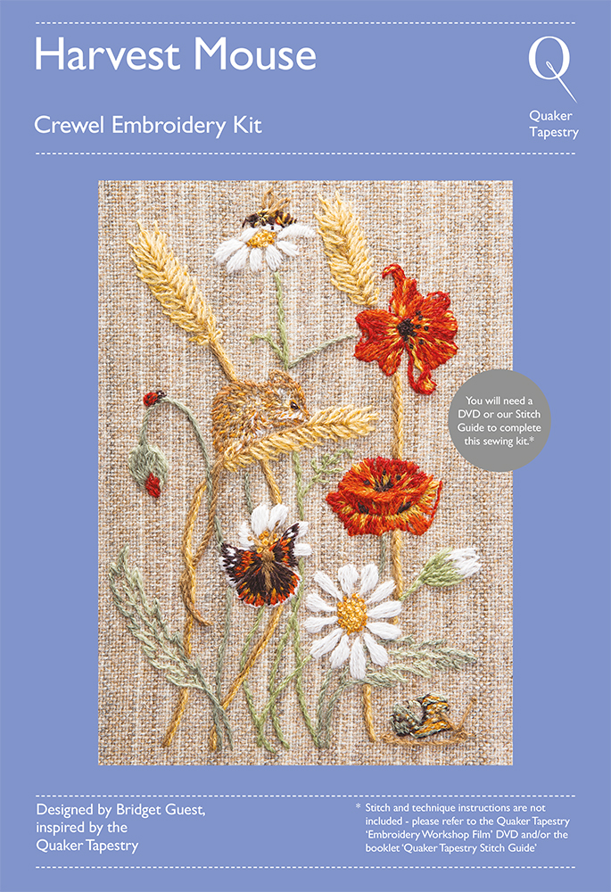 Harvest Mouse Embroidery Kit Quaker Tapestry