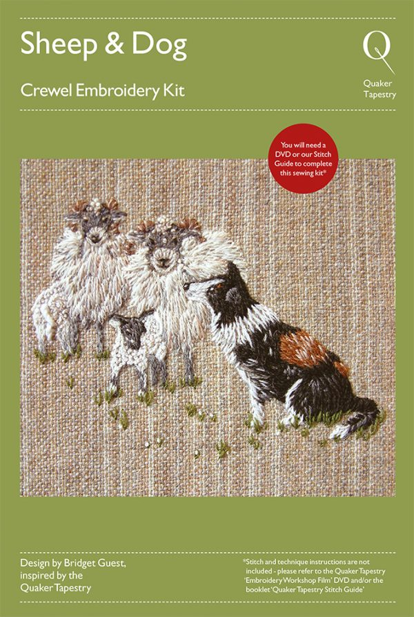 Sheep & Dog embroidery kit