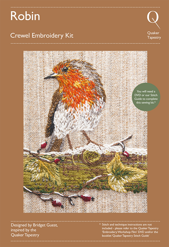 Robin embroidery kit quaker tapestry