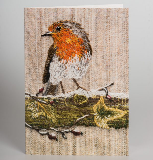 Robin greetings card
