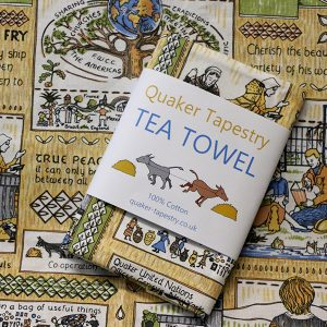 Quaker Tapestry Tea Towel
