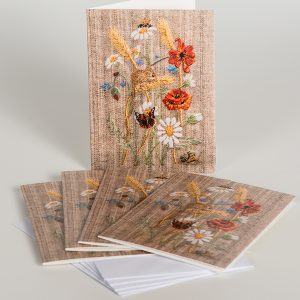 Harvest mouse notecard pack