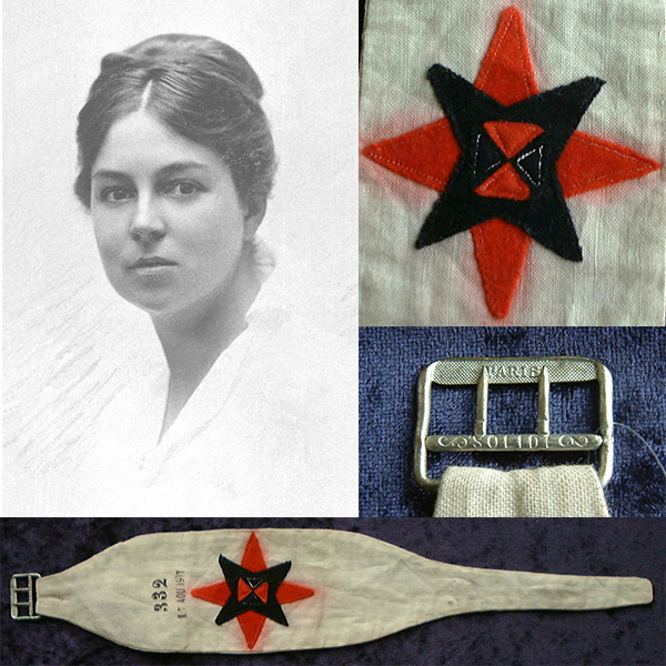 Montage of images of Ruth Isabel Holdsworth and her Armband