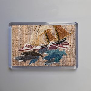 Fridge magnet - Ship and Dolphin