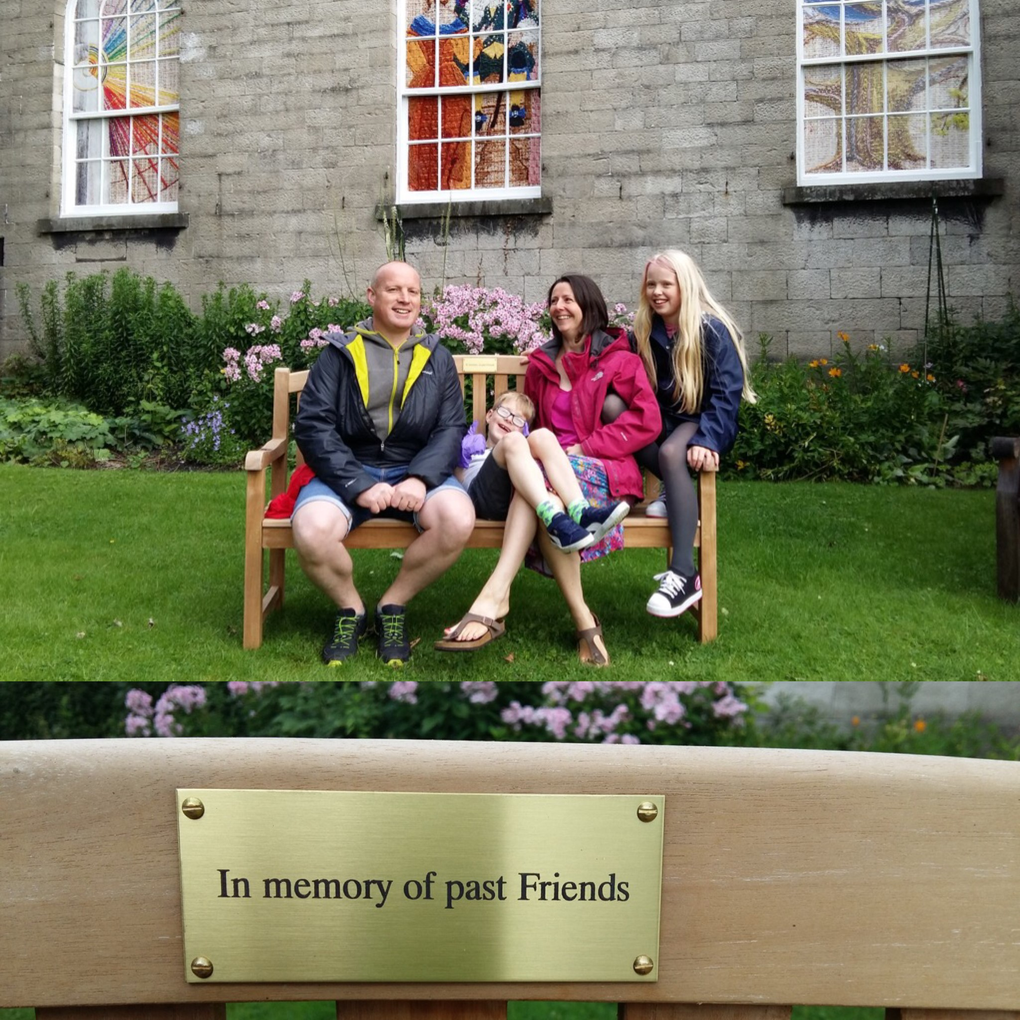 Thanks to a kind donation we have been able to purchase a new bench for our garden