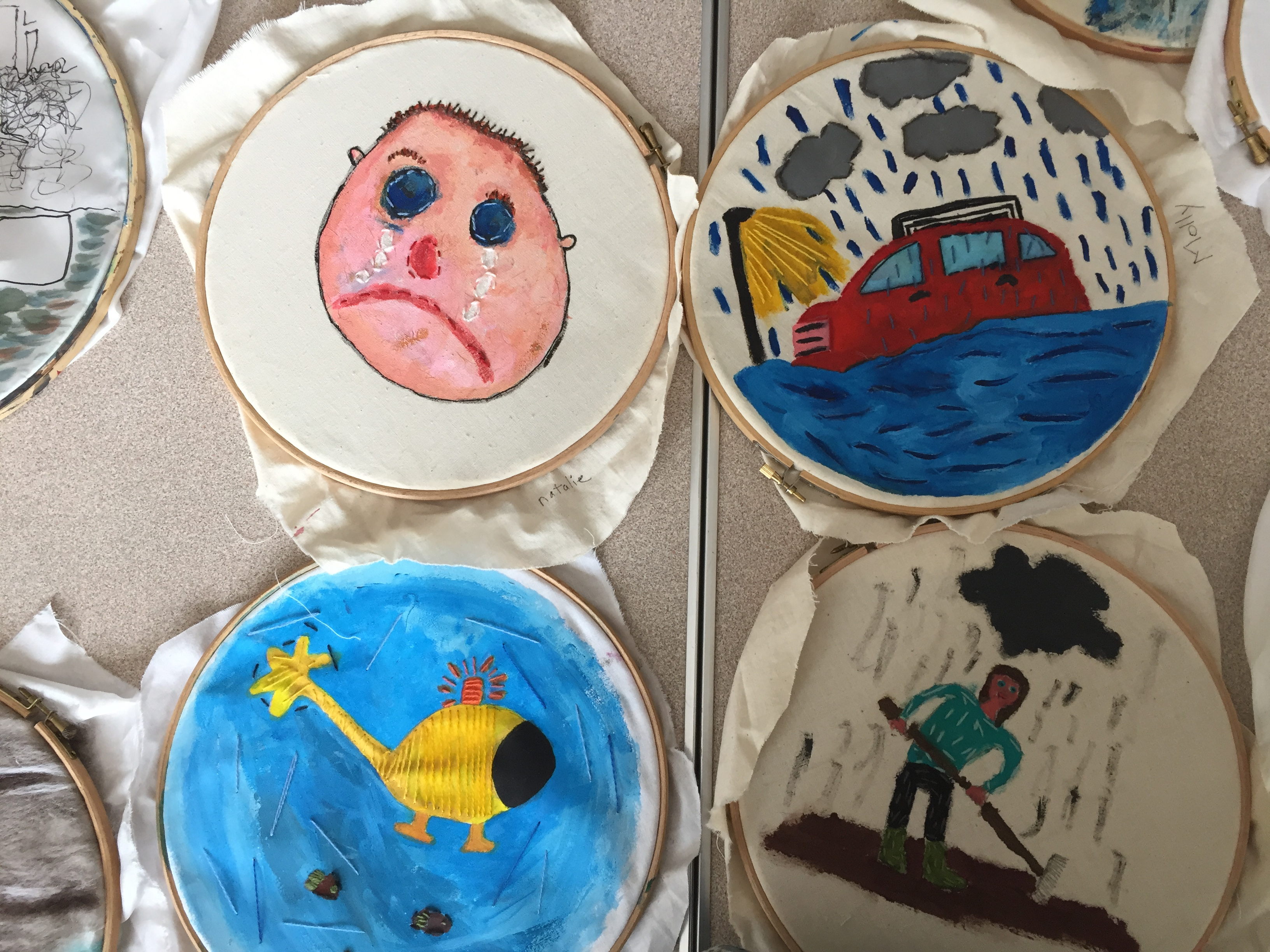 Children expressed feelings and emotions felt during and after the floods of Dec 2015.