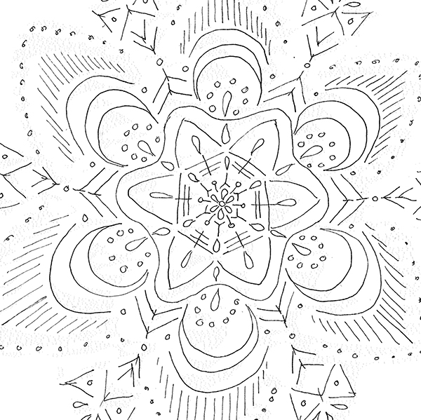 Mandala sketch Embroidery Workshop
