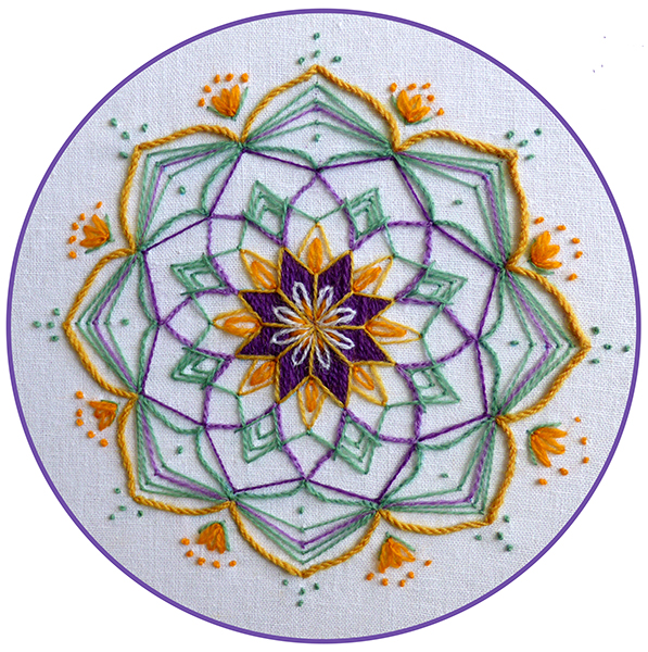 Mandala Embroidery Kit