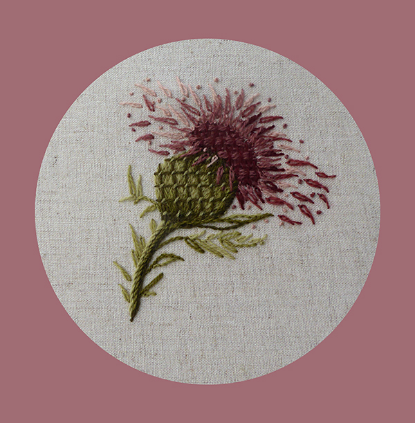 Plume Thistle Embroidery