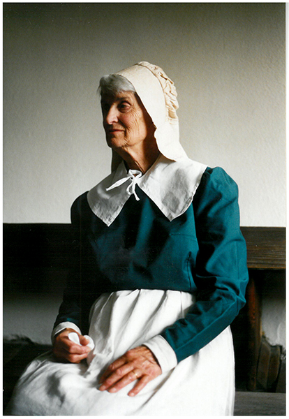 Rachel Abbott in 17thC costume 1999