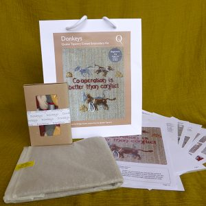 Donkeys embroidery kit