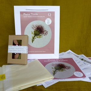 Plume Thistle embroidery kit